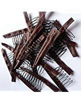 10/20/30/50/100 Pcs One Bag Brown Wig Combs Convenient For Your Wig Caps