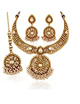 Handcrafted Gold plated kundan set