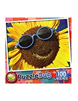 Puzzle Bug 100 Piece Puzzle ~ Happy Sunflower