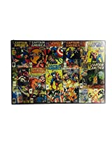Captain America Collage Marvel Comics