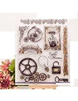 1pc Memories Transparent Clear Silicone Stamp/Seal for DIY scrapbooking/photo album Decorative clear stamp sheets