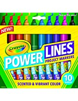 Crayola 10-Count Powerlines Washable Markers with Scents
