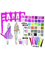 Fashion Angels Project Runway Fashion Illustration Portfolio with Chroma Stix