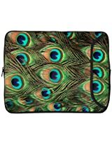 Designer Sleeves 15-Inch Peacock Laptop Case (15DS-PEACOCK)