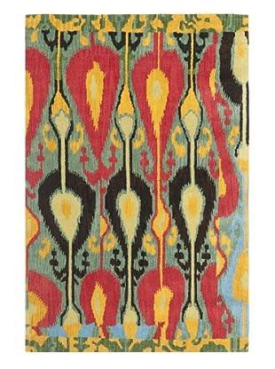 Safavieh Hand-Tufted Wool Ikat Rug (BLUE/GREEN)