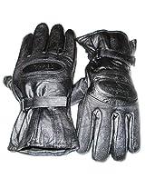 Star Leather Dazzling Winter Gloves/ Bike Gloves/ Biker Gloves/ Motorcycle/ Bike Racing/ Riding/ Gym / Fitness / Full Fingers Glovess with Wrist Wrap & Best Grip For Men - Black