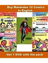 Mandrake Set of 10 Digests in English + 1 DVD Free