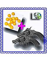E-UNIQUE ARENA 2 Pcs 8 Round Mini Toy Gun + 200+ Pcs High Grade 6mm Plastic BB Pellets