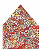 Tiekart Printed Silk Pocket Square (Ps357_Multi)