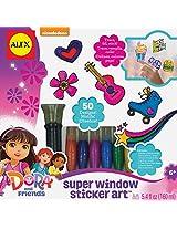Dora and Friends Window Sticker Art Craft Kit