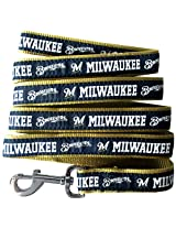 Pets First MLB Milwaukee Brewers Pet Leash, Large