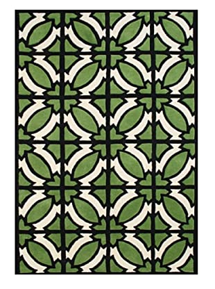 Alliyah Rugs Alliyah Collection (Vanilla/Green/Black)