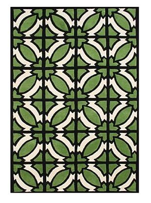Alliyah Rugs Alliyah Collection (Vanilla/Green/Black)