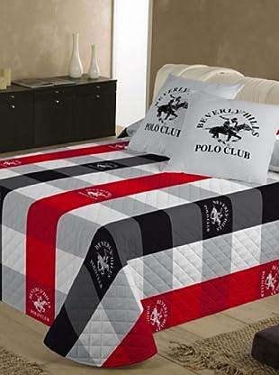 Beverly Hills Polo Club Tagesdecke (weiß/rot/grau)
