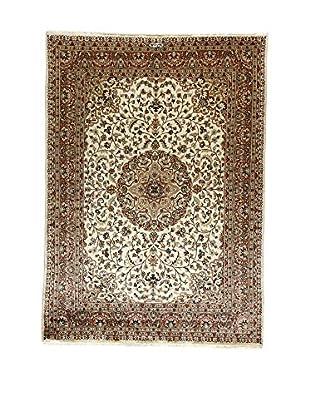 L'Eden del Tappeto Teppich Kashmirian F/Seta ecru/braun 243t x t173 cm