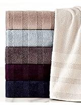 WestPoint Home Portico Strada Stripe Hand Towel, Plum Perfect