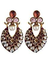 Agarwal Bentex Gold Plated Polki Kundan Earring For Women