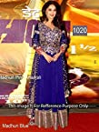 bollywood replica Madhuri Dixit In blue Green Anarkali Suit