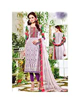 Alicolours Womens Cotton Resham Unstitched Dress Material (Alifaz11002A _Multi-Coloured)