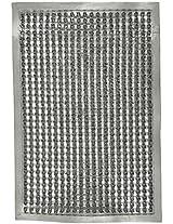 Agra Dari Plastic Doormat - 24'' x 40'' x 16'', Grey