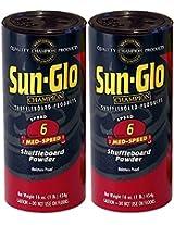 Twin Pack of Sun-Glo #6 Speed Shuffleboard Powder Wax