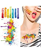 Supperb® Temporary Tattoos - Artist Splashing Paint