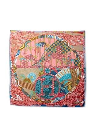 Hermès Women's Ex Libris En Kimonos Scarf, Red