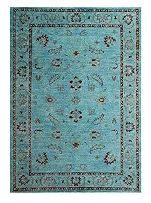 nuLOOM One-of-a-Kind Vintage Hand-Knotted Overdyed Rug, Aqua, 6' x 8' 11