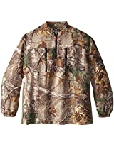 10X Men's Big Ultra-Lite Long Sleeve Pullover with Elastic Cuffs, Real Tree Xtra, 3X