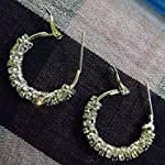 White Metal Fashion Hoop Earring