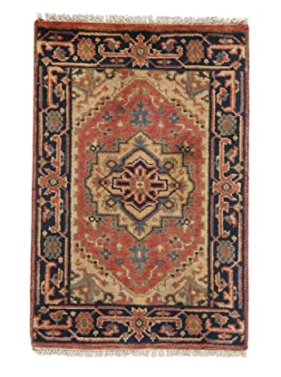 Rug Republic One Of A Kind Indo-Serapi Hand Knotted Rug, Antique Red/Multi, 2' x 3'