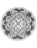 Heritage Lace Victorian Rose 19-Inch Doily, Ecru