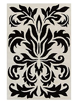 Filament Leah Hand-Tufted Rug, Black/White, 5' x 7' 6