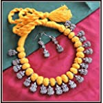 [N16O_026] Yellow Thread Necklace 05