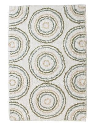 Park B. Smith Circles Bath Rug (Celadon/Seaglass/White)