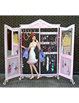 Bali Mantra 'Girl in a Closet' Jewelry Holder (White, Pink)