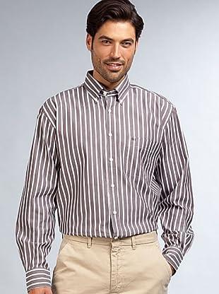 PEDRO DEL HIERRO Camisa Vestir (Marrón / Blanco)