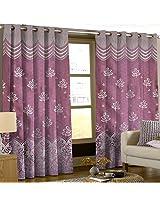 Comfy Floral Door Curtains -Purple