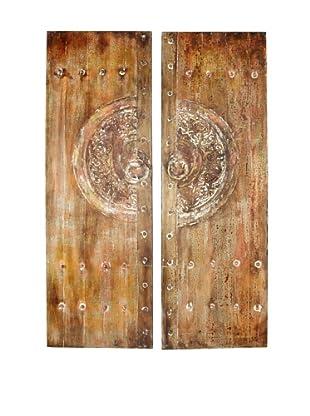 Set of 2 Rustic Canvas Art Panels