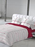 V&L Sueños Juego de Funda Nórdica Pijama Babiloine (Blanco / Gris / Rojo)