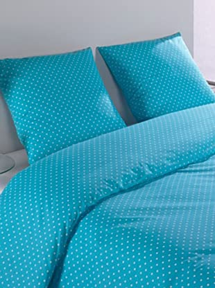 Mistral Home Bettwäsche-Set Polka in 3 Größen (blau)