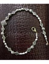 Oxidised silver Anklet