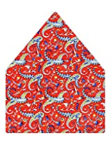 Tiekart Printed Silk Pocket Square (Ps350_Red)