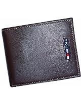 Tommy Hilfiger Logo Men's Passcase Wallet [Brown]