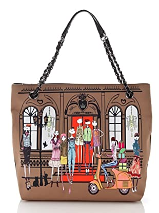 Love Moschino Shopper House braun