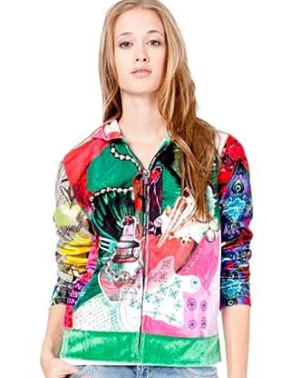 Custo Sweatshirt (Grün/Rosa)