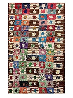 nuLOOM One-of-a-Kind Hand-Knotted Pittman Berber Shag Rug, Multi, 4' 5