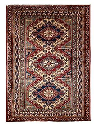 Darya Rugs Fine Kazak Oriental Rug, Red, 4' 4