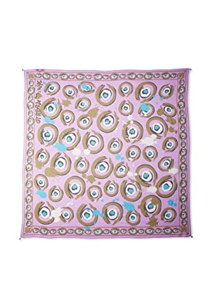 Otrera Women's Graffiti Silk Chiffon Scarf, Lavender