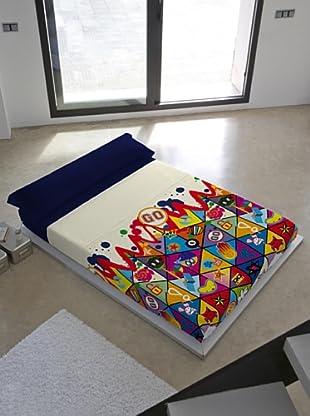 Kashi Kisu Juego de Sábanas Go Go Go (Multicolor)